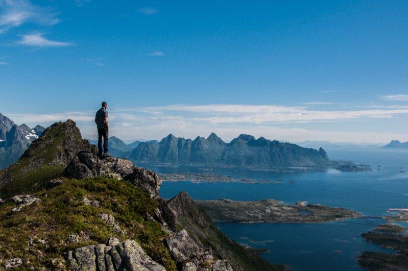 Isole Lofoten - montagne di svolvaer