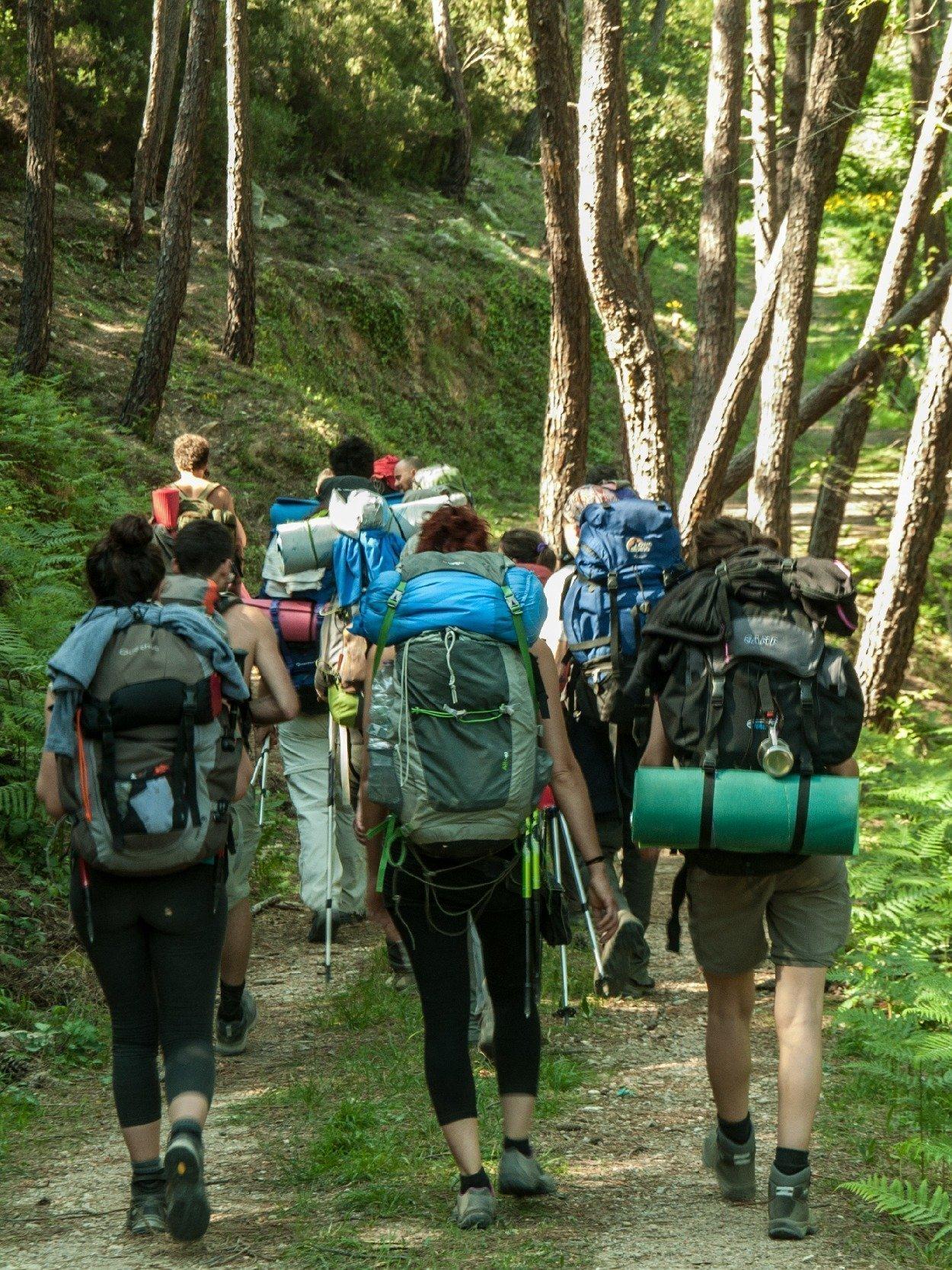 Trekking zaino in spalla