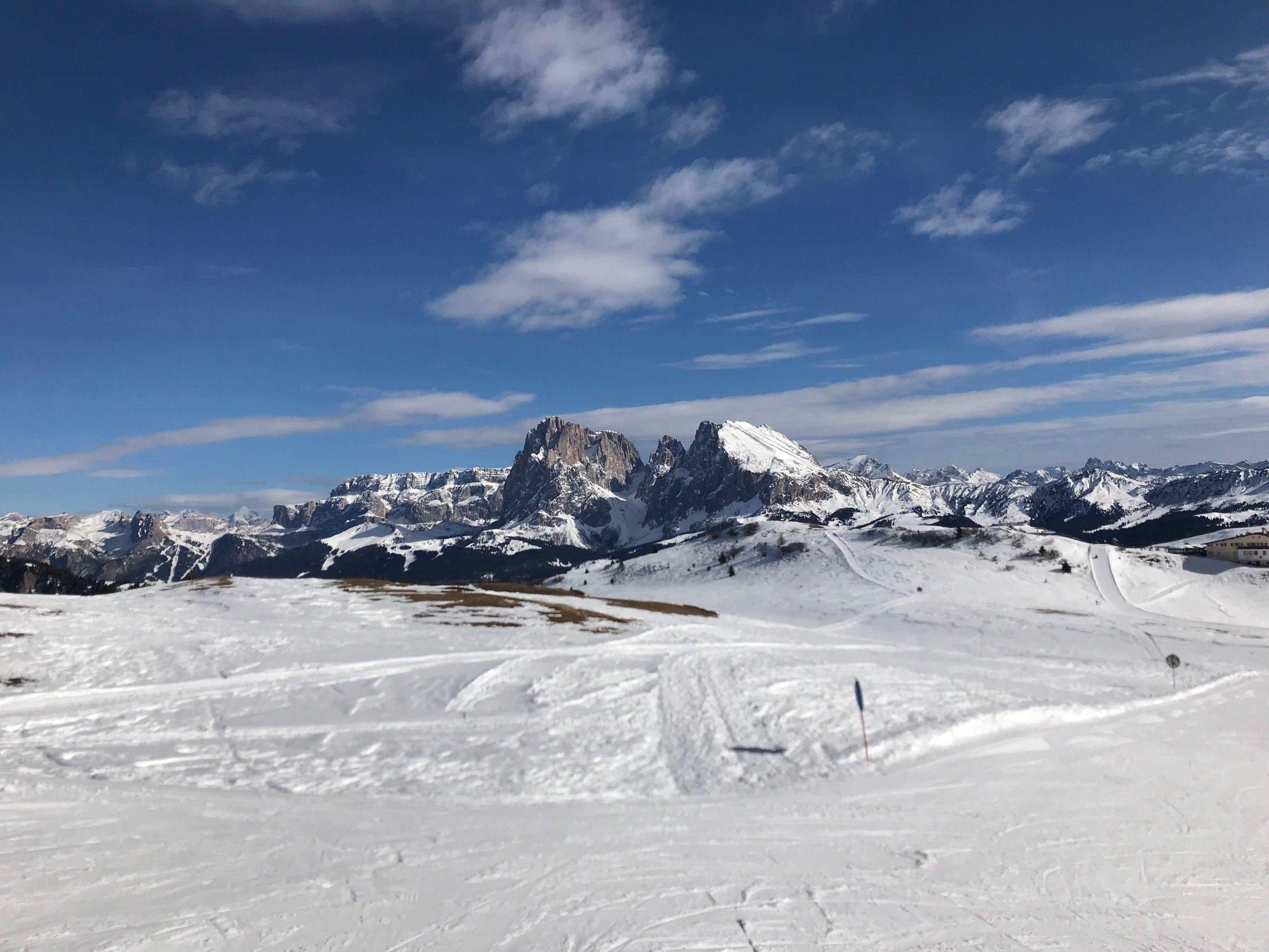Il Panorama che vedono i nostri occhi sciando sulle Dolomiti