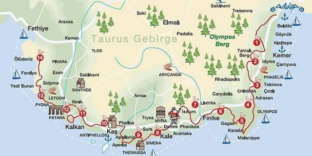 mappa-via-licia-turchia