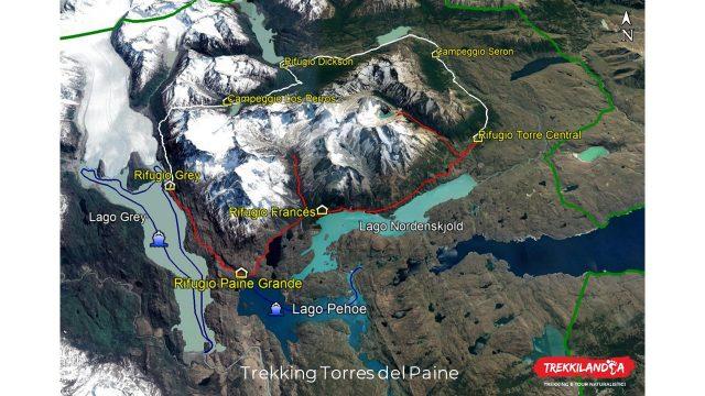 mappa-circuito-trekking-torres-del-paine-patagonia-cilena